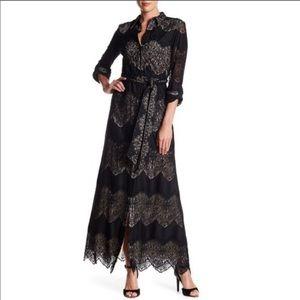 NWT Alice + Olivia Sina Belted Maxi Dress